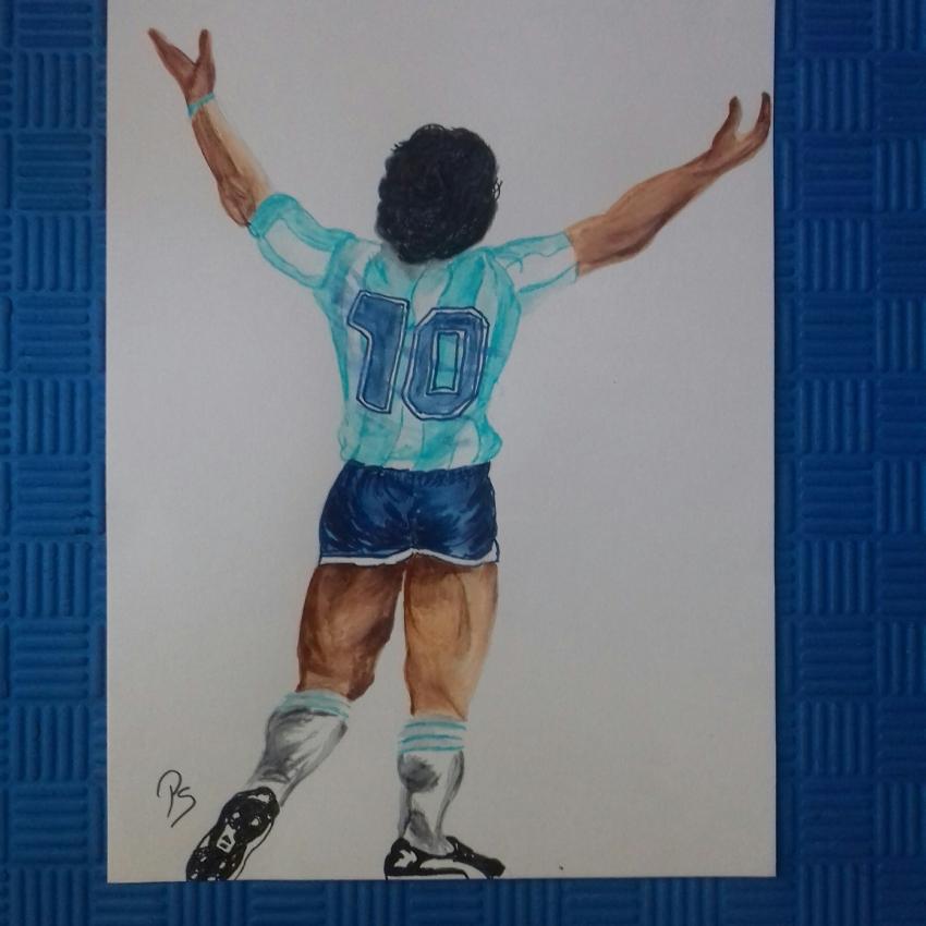 Diego Maradona por PenStilos